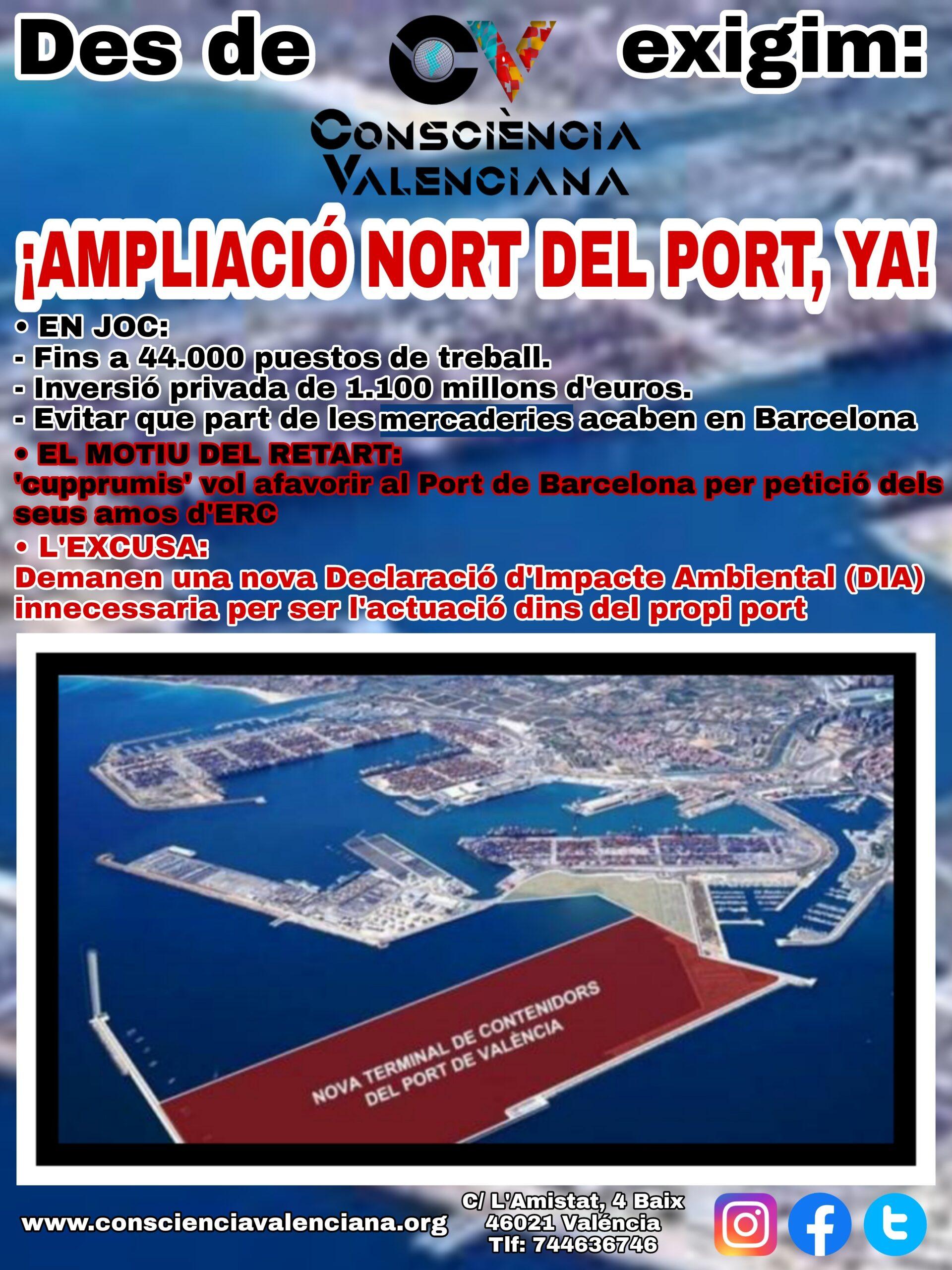 Lee más sobre el artículo Ampliación Norte del Puerto de Valencia ¡YA!